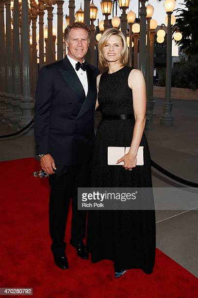 Actor Will Ferrell and LACMA trustee Viveca PaulinFerrell attend the LACMA 50th Anniversary Gala sponsored by Christie's at LACMA on April 18 2015 in...