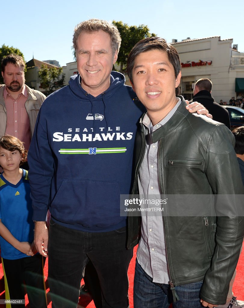 Actor Will Ferrell and Producer Dan Lin attend the premiere of 'The LEGO Movie' at Regency Village Theatre on February 1, 2014 in Westwood, California.