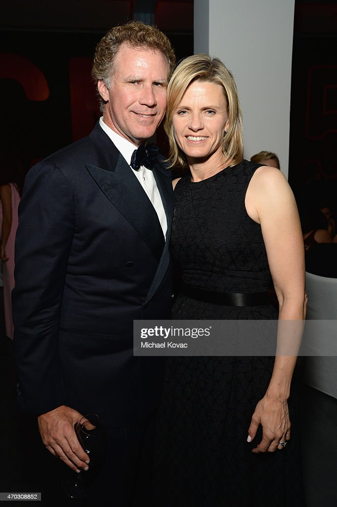 Actor Will Ferrell (L) and Viveca Paulin-Ferrell attend LACMA's 50th Anniversary Gala sponsored by Christie's at LACMA on April 18, 2015 in Los Angeles, California.