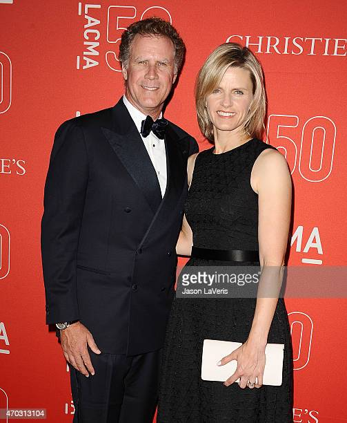 Actor Will Ferrell and wife Viveca PaulinFerrell attend LACMA's 50th anniversary gala at LACMA on April 18 2015 in Los Angeles California