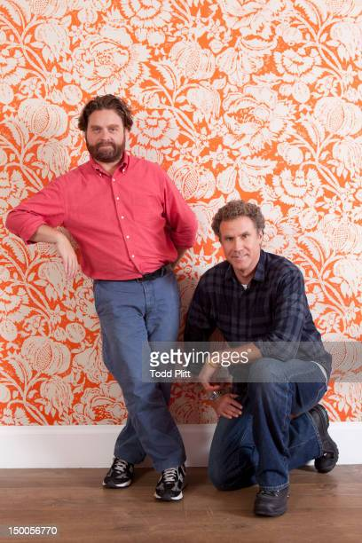 Actor Will Ferrell and Zach Galifianakis are photographed for USA Today on August 6 2012 in New York City