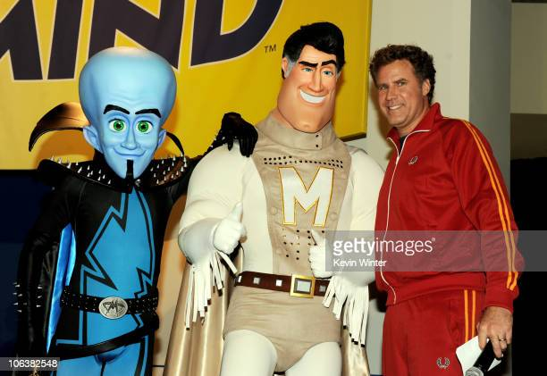 """Actor Will Ferrell appears onstage at a reception for the premiere of DreamWorks Animation's """"Megamind"""" at Hollywood and Highland on October 30, 2010..."""
