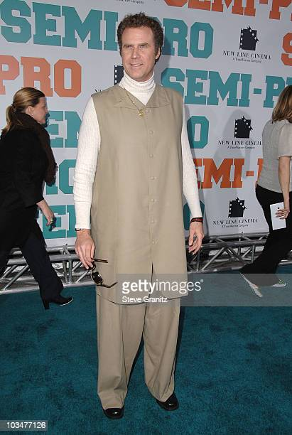 "Actor Will Ferrell arrives to the ""Semi-Pro"" Los Angeles premiere at the Mann Village Theatre on February 19, 2008 in Westwood, California."
