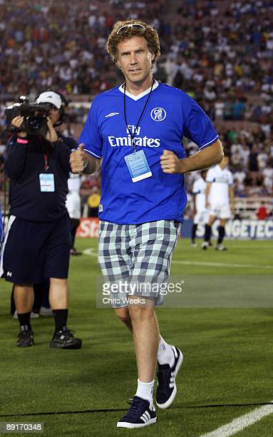 Actor Will Ferrell attend Chelsea FC and Inter-Milan soccer match benefitting LAFC Chelsea and Africa Outreach Project at The Rose Bowl on July 21,...