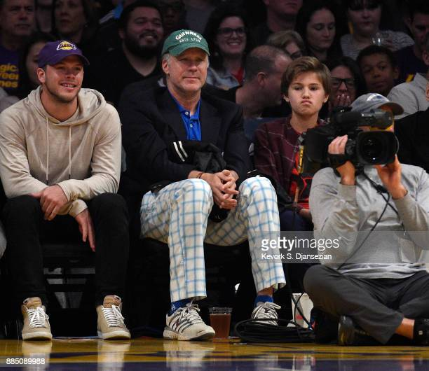 Actor Will Ferrell attends a basketball game between Houston Rockets and Los Angeles Lakers at Staples Center December 3 2017 in Los Angeles...