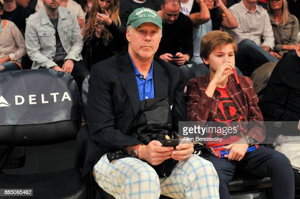 Actor Will Ferrell attends a basketball game between the Los Angeles Lakers and the Houston Rockets at Staples Center on December 3 2017 in Los...