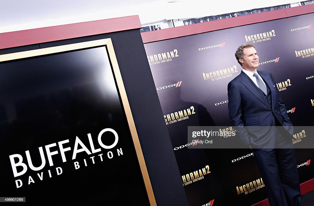 Actor Will Ferrell attends the 'Anchorman 2: The Legend Continues' premiere, sponsored by Buffalo David Bitton, on December 15, 2013 in New York City.