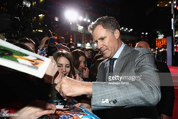 Actor Will Ferrell attends the Berlin fan screening of the Paramount Pictures film 'Zoolander No 2' at CineStar on February 2 2016 in Berlin Germany
