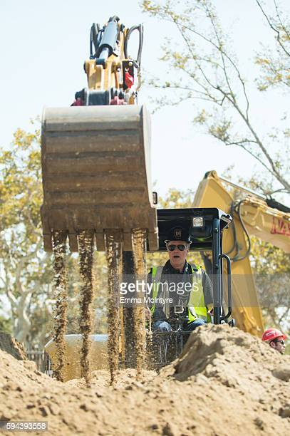 Actor Will Ferrell attends the Los Angeles Football Club stadium groundbreaking ceremony on August 23 2016 in Los Angeles California