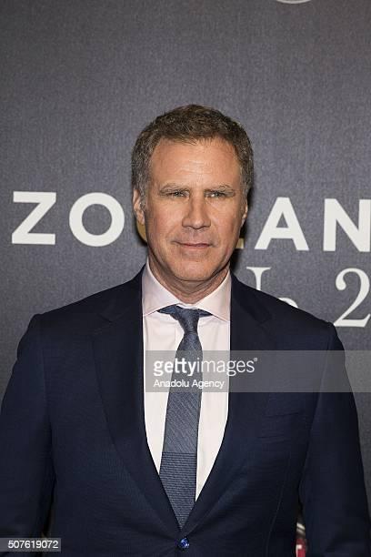 "Actor Will Ferrell attends the premiere of ""Zoolander 2"" at The Space Cinema Moderno - Piazza della Repubblica on January 30, 2016 in Rome, Italy."