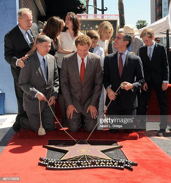 Actor Will Ferrell Honored with a Star on The Hollywood Walk Of Fame on March 24 2015 in Hollywood California