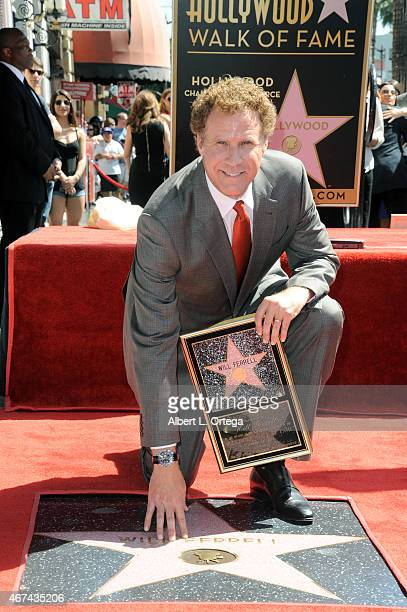 Actor Will Ferrell is honored with a star on The Hollywood Walk of Fame on March 24 2015 in Hollywood California