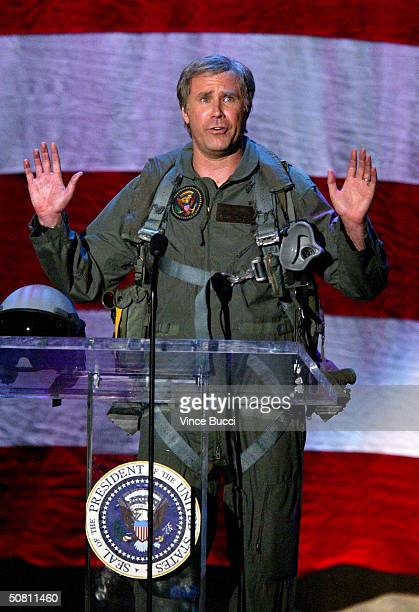 """Actor Will Ferrell plays the president at the """"Earth To LA - The Greatest Show On Earth"""" event benefitting the Natural Resources Defense Council on..."""