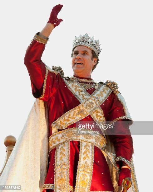 Actor Will Ferrell reigns as King in the 2012 Krewe of Bacchus Parade on February 19 2012 in New Orleans Louisiana