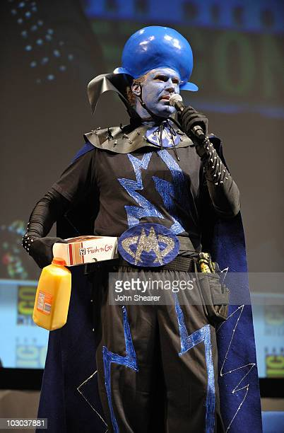 """Actor Will Ferrell speaks at the """"Megamind"""" panel during Comic-Con 2010 at San Diego Convention Center on July 22, 2010 in San Diego, California."""