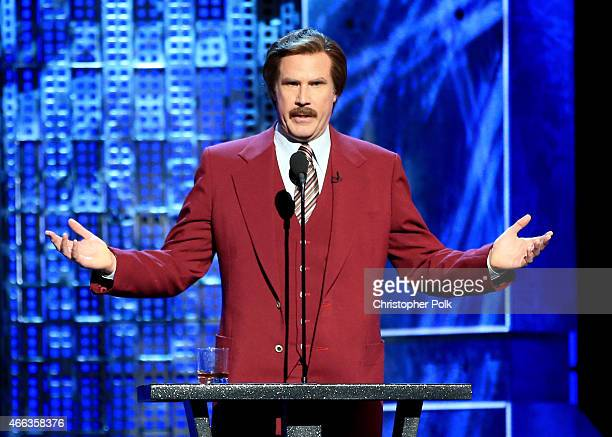Actor Will Ferrell speaks onstage at The Comedy Central Roast of Justin Bieber at Sony Pictures Studios on March 14, 2015 in Los Angeles, California....