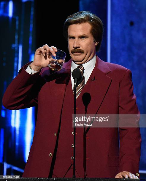 Actor Will Ferrell speaks onstage at The Comedy Central Roast of Justin Bieber at Sony Pictures Studios on March 14 2015 in Los Angeles California...
