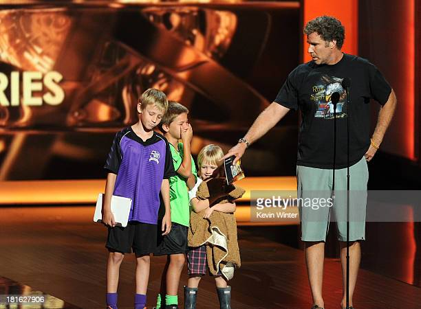 Actor Will Ferrell speaks onstage during the 65th Annual Primetime Emmy Awards held at Nokia Theatre LA Live on September 22 2013 in Los Angeles...