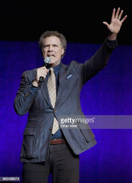 Actor Will Ferrell speaks onstage during the CinemaCon 2018 Gala Opening Night Event Sony Pictures Highlights its 2018 Summer and Beyond Films at The...