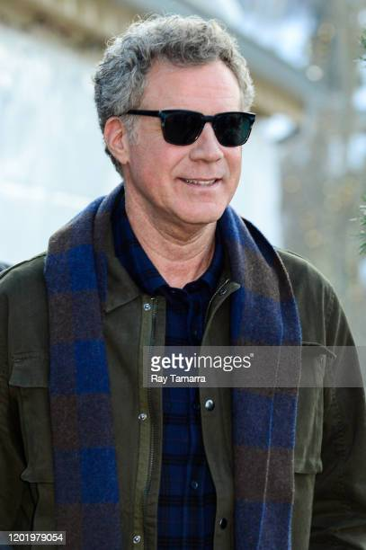 Actor Will Ferrell walks on Main Street on January 25 2020 in Park City Utah