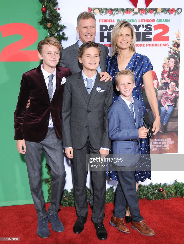 Actor Will Ferrell, wife Viveca Paulin and their sons ...