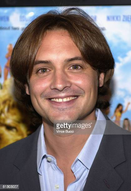 Actor Will Friedle attends the premiere of National Lampoon's Gold Diggers on September 13 2004 at the Grove in Los Angeles California