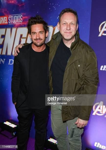 Actor Will Kemp and Directror Jonathan Wright attends the 'Avengers: Endgame' Canadian Premiere at Scotiabank Theatre on April 24, 2019 in Toronto,...