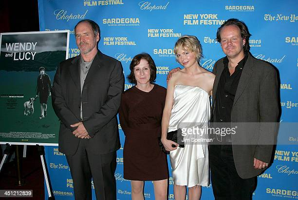 Actor Will Patton Director Kelly Reichardt Actors Michelle Williams and Larry Fessenden attend the New York Film Festival premiere of Wendy Lucy at...