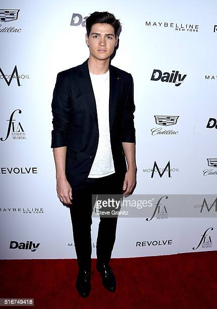 Actor Will Peltz attends the Daily Front Row 'Fashion Los Angeles Awards' at Sunset Tower Hotel on March 20 2016 in West Hollywood California