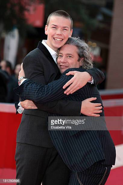 Actor Will Poulter and director Dexter Fletcher attend the Wild Bill premiere during the 6th International Rome Film Festival on November 3 2011 in...
