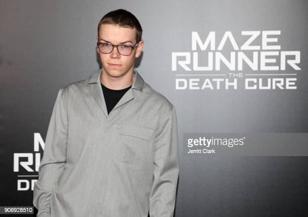 Actor Will Poulter attend the fan screening of 20th Century Fox's 'Maze Runner The Death Cure' at AMC Century City 15 theater on January 18 2018 in...