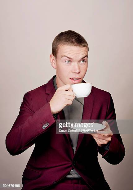 Actor Will Poulter poses for a portrait at the BAFTA Los Angeles Awards Season Tea at the Four Seasons Hotel on January 9 2016 in Los Angeles...