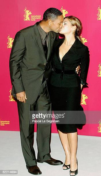Actor Will Smith and actress Eva Mendes pose at the Hitch Photocall during the 55th annual Berlinale International Film Festival on February 18 2005...