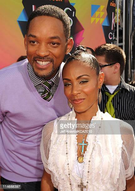 Actor Will Smith and actress Jada Pinkett Smith arrive at Nickelodeon's 23rd Annual Kids' Choice Awards held at UCLA's Pauley Pavilion on March 27,...