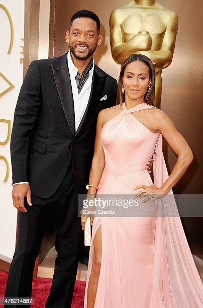 Actor Will Smith and actress Jada Pinkett Smith attend the Oscars held at Hollywood Highland Center on March 2 2014 in Hollywood California