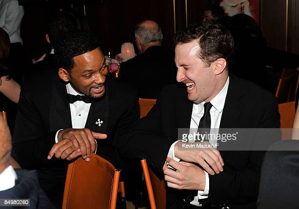 Actor Will Smith and directo Darren Aronofsky attends the 2009 Vanity Fair Oscar party hosted by Graydon Carter at the Sunset Tower Hotel on February...