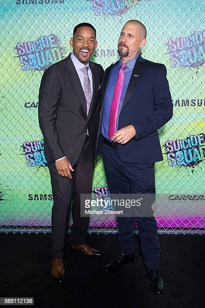 """Actor Will Smith and director David Ayer attend the """"Suicide Squad"""" world premiere at The Beacon Theatre on August 1, 2016 in New York City."""