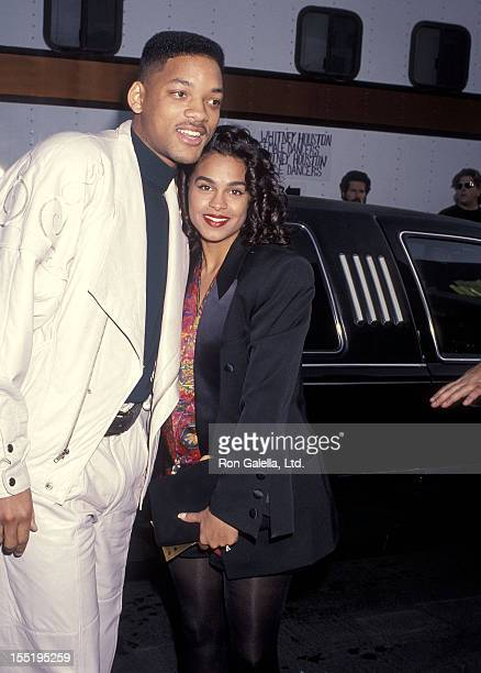 Actor Will Smith and girlfriend Sheree Zampino attend the 19th Annual American Music Awards on January 27, 1992 at Shrine Auditorium in Los Angeles,...