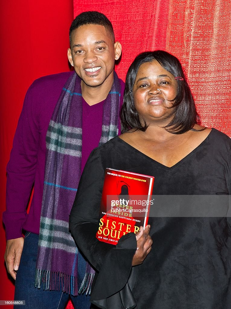 Actor Will Smith and New York Times bestselling author Sister Souljah attend Will Smith And Sister Souljah In Discussion: 'A Deeper Love Inside: The Porsche Santiaga Story' at Temple Performing Arts Center on February 2, 2013 in Philadelphia, Pennsylvania.