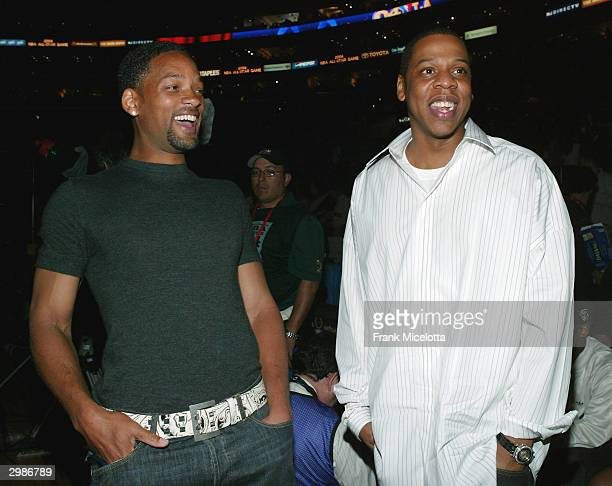 Actor Will Smith and rap artist Jay Z attend the 2004 NBA AllStar Game held at the Staples Center February 15 2004 in Los Angeles California