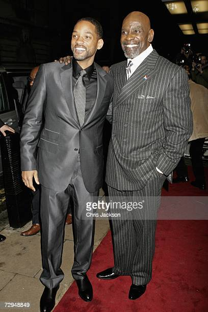 Actor Will Smith and stockbroker Chris Gardner attend the UK premiere of the movie 'The Pursuit Of Happyness' held at the Curzon Mayfair on January 8...