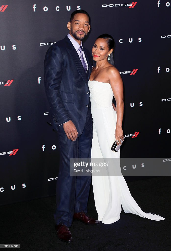 Actor Will Smith and wife actress Jada Pinkett Smith attend the premiere of Warner Bros. Pictures' 'Focus' at the TCL Chinese Theater on February 24, 2015 in Hollywood, California.