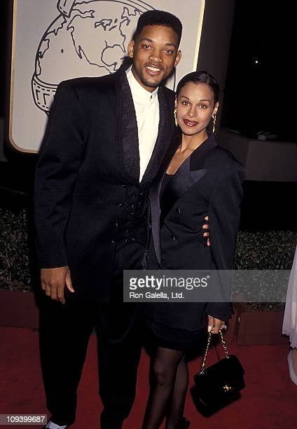Actor Will Smith and wife Sheree Smith attend the 51st Annual Golden Globe Awards on January 22 1994 at Beverly Hilton Hoteli n Beverly Hills...