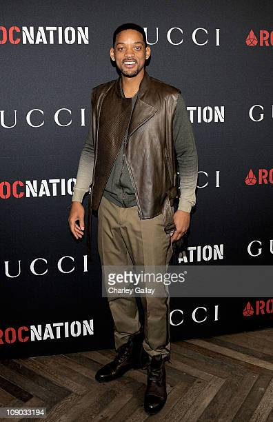 Actor Will Smith arrives at the Gucci and RocNation PreGRAMMY brunch held at Soho House on February 12 2011 in West Hollywood California