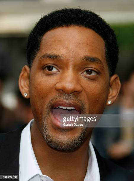 Actor Will Smith arrives at the premiere of 'Hancock' at Leicester Square Vue Cinema June 18 2008 in London England