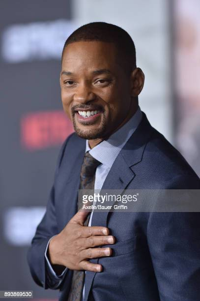 Actor Will Smith arrives at the premiere of Netflix's 'Bright' at Regency Village Theatre on December 13 2017 in Westwood California