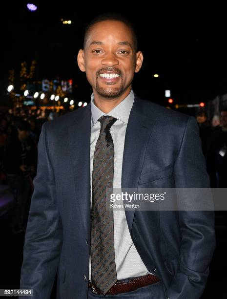 Actor Will Smith arrives at the premiere of Netflix's Bright at the Village Theatre on December 13 2017 in Los Angeles California