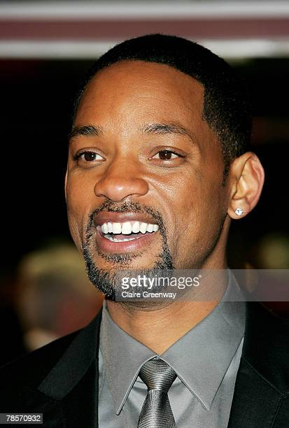 Actor Will Smith arrives at the UK premiere of I Am Legend at the Odeon Leicester Square on December 19 2007 in London England