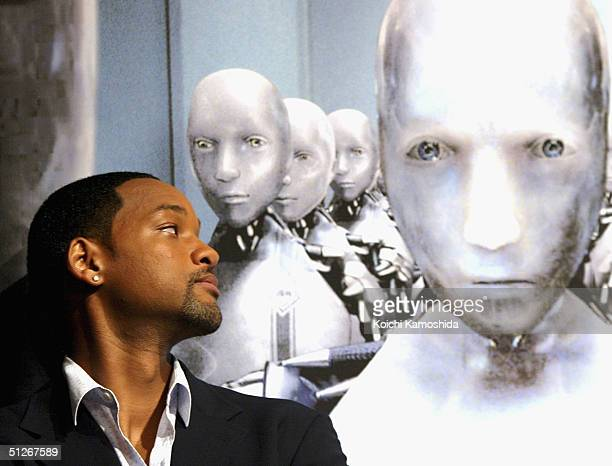 Actor Will Smith attends a press conference to promote the film 'I Robot' September 7 2004 in Tokyo Japan
