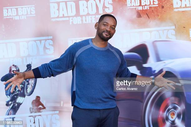 Actor Will Smith attends 'Bad Boys For Life' photocall at the Villamagna Hotel on January 08 2020 in Madrid Spain